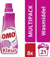 Omo Vloeibaar Klein & Krachtig Color - 168 wasbeurten - 8 stuks - Wasmiddel