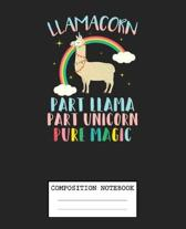 Composition Notebook: Magical Unicorn Soft Glossy Cover Rainbow Unicorns Kids Wide Ruled Blank Lined Journal Paper 7.5 x 9.25 Inches 110 Pag