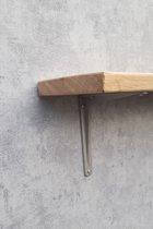wandplank/boekenplank eiken industriele dragers 95cm