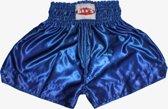 TTBE-005 - Kickboks broekje effen kleur blauw maat M