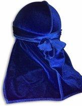 Blauw Velvet Du-Rag-Premium kwaliteit - Wave Cap-Durag