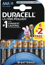 Duracell Ultra Power Batterijen | AAA 6+2 LR03