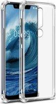 Nokia 5.1 Plus TPU Hoesje met Screen Protector Transparant