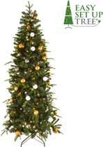 Kerstboom met versiering Easy Set Up Tree® LED Avik Decorated Bronze 180 cm - Luxe uitvoering - 240 Lampjes