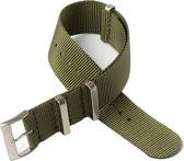 Chibuntu® horloge band - Nato Strap - Olijf Groen - 22 mm