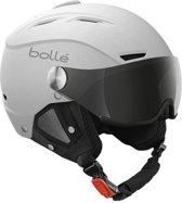 Bollé Backline Visor skihelm wit/zilver-56-58