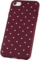 iPhone X / Xs Siliconen Hoesje Case Polka Dots Back Cover Stippen Rood