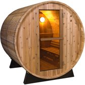 Barrel Sauna Rustic 4 Ft. - Fonteyn