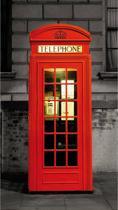 Londen Phone - Deurposter - 210 x 95 cm - Rood