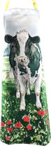 Katoenen Schort – Keukenschort - Landelijk – Koe – 70 x 100 cm