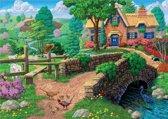 DIamond painting - landschap - natuur - boerderij - 30x48cm