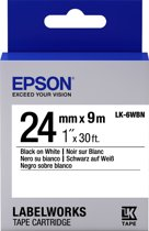 Epson Standard Tape - LK-6WBN Std Blk/Wht 24/9