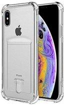 ShieldCase Shock case met pashouder iPhone X / Xs + gratis glazen Screenprotector