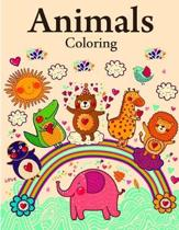 Animals Coloring: Funny Animals Coloring Pages for Children, Preschool, Kindergarten age 3-5