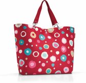 Reisenthel Shopper XL Strandtas - Shopper - Maat XL - Polyester - 35L - Funky Dots 2 Rood