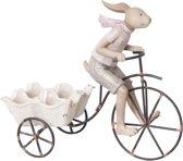 Konijn op fiets en aanhanger | Clayre & Eef | Pasen