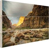 Colorado River Grand Canyon Hout 30x20 cm - klein - Foto print op Hout (Wanddecoratie)