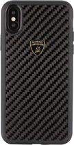 Lamborghini backcover hoesje S-Skin Apple iPhone X-Xs Zwart - Carbon fiber - Carbon fiber