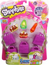 Shopkins 5 personages en 5 winkeltassen
