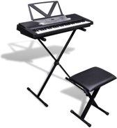 Elektrisch keyboard met 54 toetsen + verstelbare keyboard standaard en een stoel