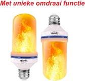 Sfeervolle Vuurlamp  met E27 Fitting - Geschikt Voor Boven EN Onder Fittingen (Draait Automatisch) - Design Vuur Lamp 6W - Vlam Effect LED lamp - Flame Simulatie licht - Firelamp - Vuurlampen - Qwality4u