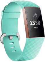 123Watches.nl Fitbit charge 3 sport wafel band - groen - SM