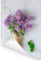 Boeket van seringenbloemen Tuinposter 120x180 cm - Tuindoek / Buitencanvas / Schilderijen voor buiten (tuin decoratie) XXL / Groot formaat!