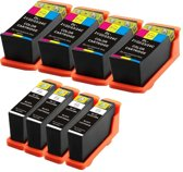 Compatible voor Dell Series 21 (22,23 en 24) InktBV® Inktcartridge-set 8pak