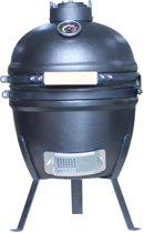 """4cookz Kamado BBQ 13"""" Graphite - Houtskoolbarbecue - Small - mat zwart"""