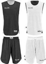 Spalding Double Face Tenue - maat 164 - Zwart/Wit