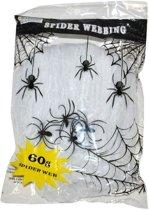 Wit spinnenweb met spinnen 60 gr