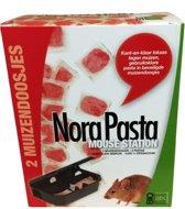 Nora Pasta Mouse Station 2 lokdoos + 8 pasta