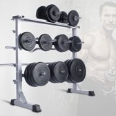 Halter opbergrek - opberg rek voor gewichtsschijven - max draagkracht 300 kg