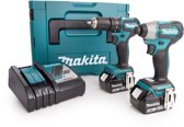Makita 18 V Cordless Impact Wrench (2 Rechargeable Battery & Charger)
