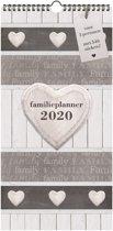 Hobbit familieplanner spiraal maandkalender smal D1 2020 voor maximaal 5 personen (formaat A3) hart