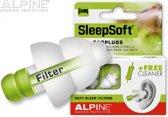 Alpine oorplugs SleepSoft -  in cassette groen - 1 paar