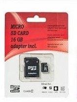 Micro SD Card 16 GB inclusief adapter