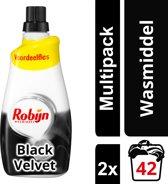 Robijn Black Velvet Klein & Krachtig Vloeibaar - 84 wasbeurten - 2 x 1,47 l - Wasmiddel - Voordeelverpakking