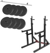 Gorilla Sports Multi Squat Rack belastbaar tot 260kg + 40 kg halterset