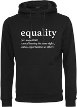 Dames Equality Definition Hoody zwart