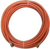 Rubberen gasslang met lengte van 5 meter inclusief 3/8 koppelingen
