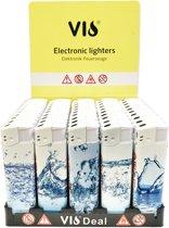 Klik aanstekers 50 in tray navulbaar- Vio deal aansteker