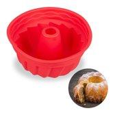 relaxdays tulbandvorm - siliconen - tulband bakvorm - cakevorm marmercake - 23 cm