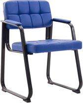 Clp Canada B - Eetkamersstoel - Kunstleer - blauw zwart matmetaal