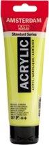 Standard tube 120 ml [ 267 ] Azo geel citroen halfdekkende acrylverf. 3 TUBES.