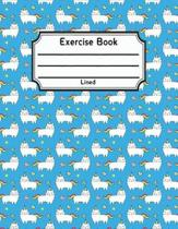 Exercise Book Lined: Back To School Notebook V8