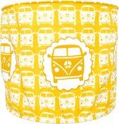 Taftan - stoffen Hanglamp - Busje  geel