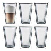 Bodum Canteen Dubbelwandige Glazen - 400 ml - 6 stuks