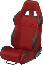 AutoStyle Sportstoel 'T Eco' - Rood - Dubbelzijdig verstelbare rugleuning - incl. sledes