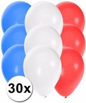 30x Ballonnen in Franse kleuren